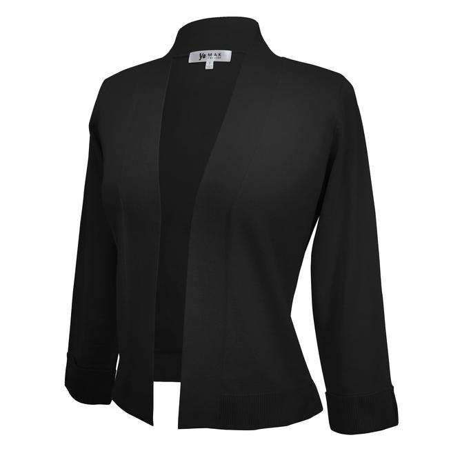 Yemak Sweater | Women's 3/4 Sleeve Bolero Style Crop Cardigan MK3558 (S-L)