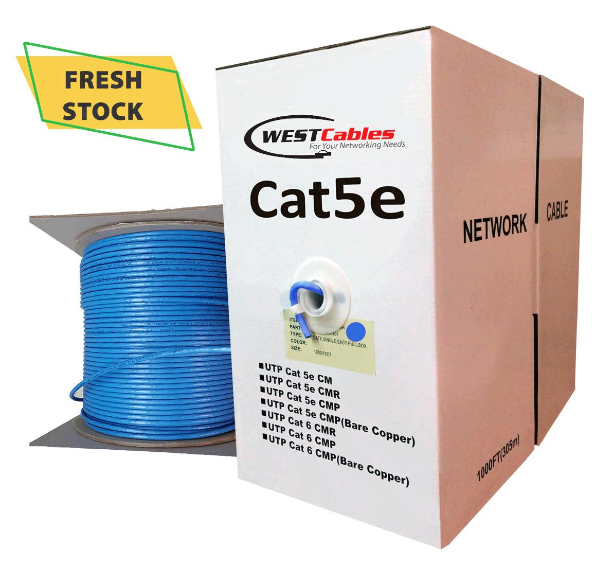 1000 FT Cat5e Plenum UTP Ethernet Cable