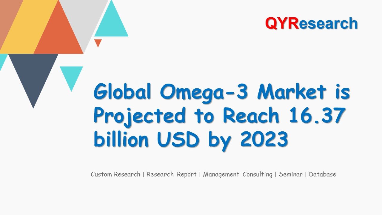 Global Omega-3 Market is Projected to Reach 16.37 billion USD by 2023