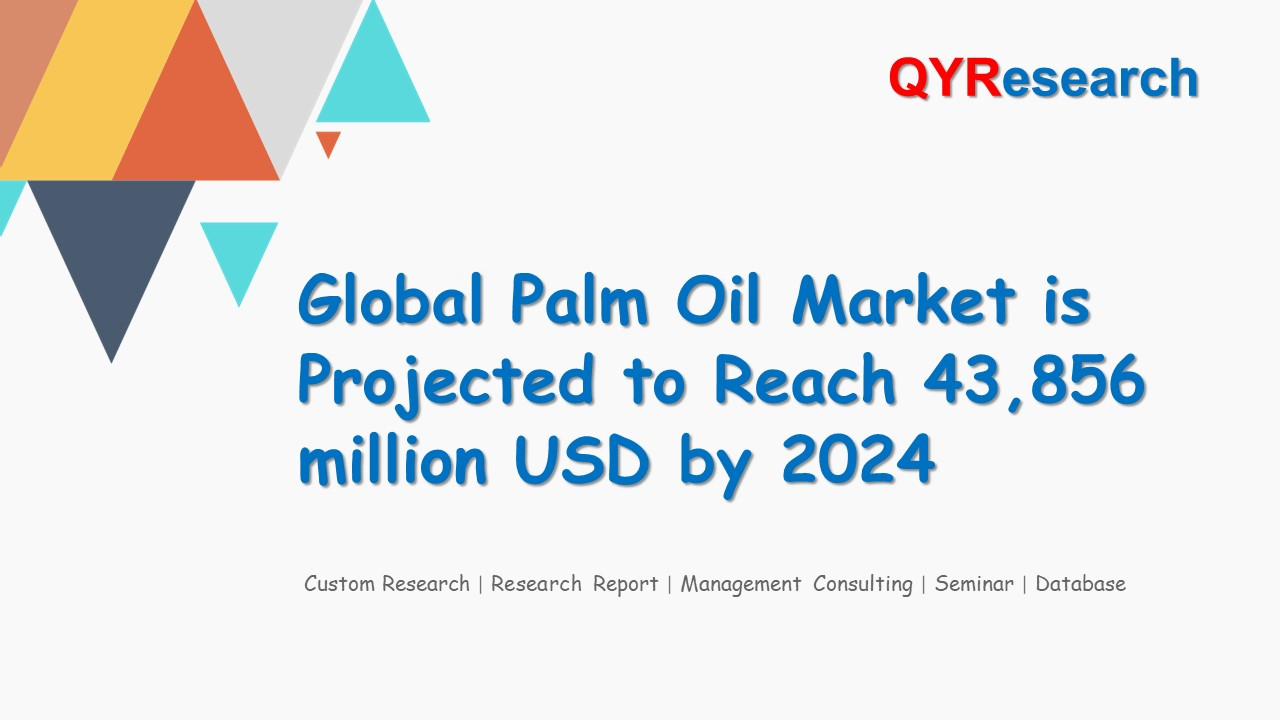 Global Palm Oil Market is Projected to Reach 43,856 million USD by 2024