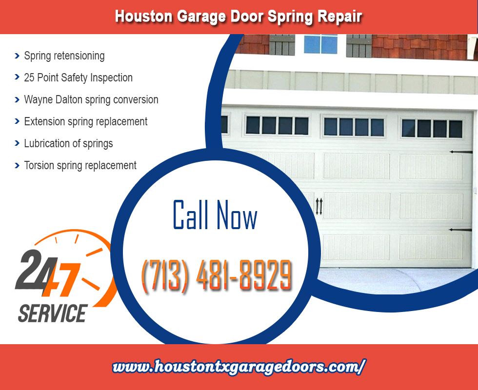 Commercial Garage Door Spring Repair And Replacement ($25.95) | Houston, 77008 Texas