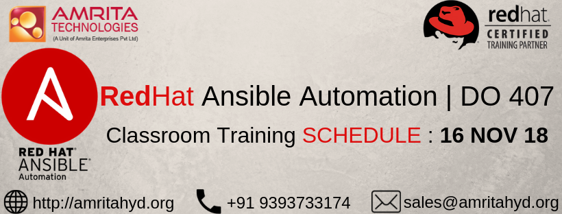 RedHat Ansible Training from the RedHat Authorized Partner with Experienced Trainers