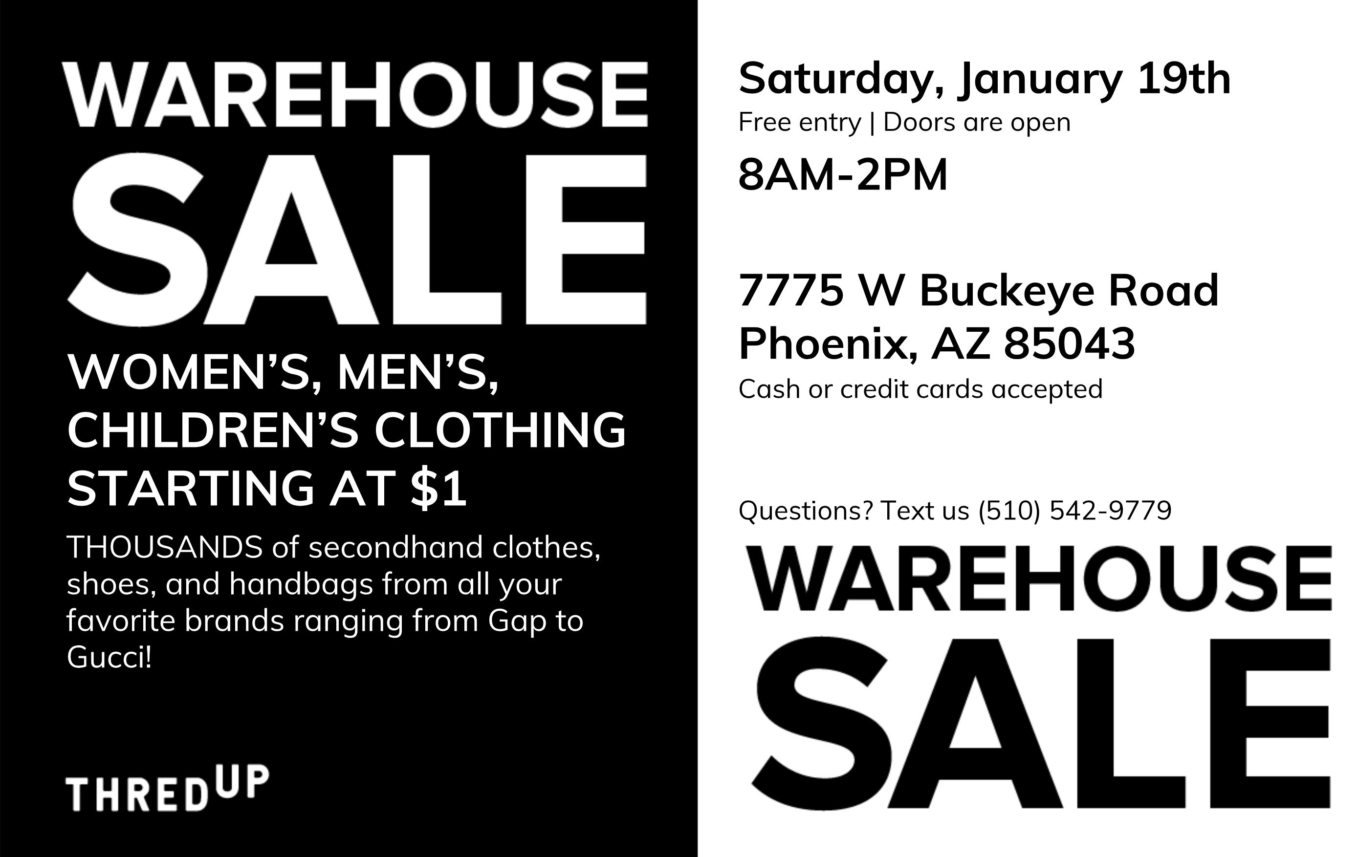 GIANT 2nd Hand Apparel Warehouse Sale