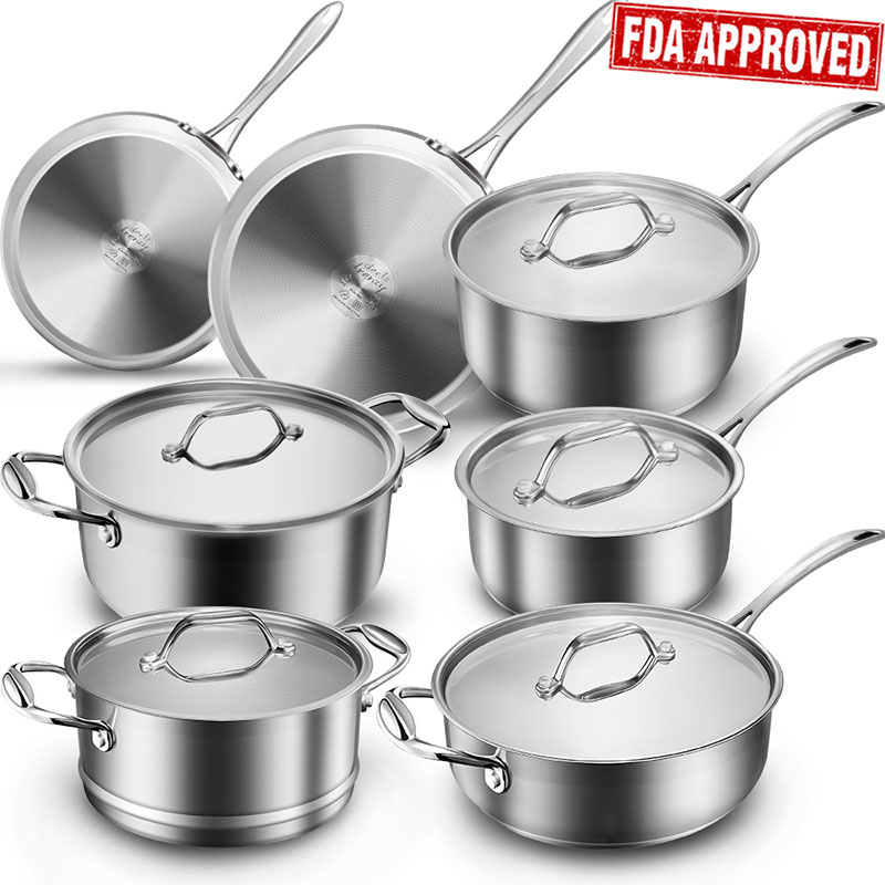 Classic Multiclad Pro Stainless Steel 12 Piece Cookware Set, Save $20 with Amazon Coupon