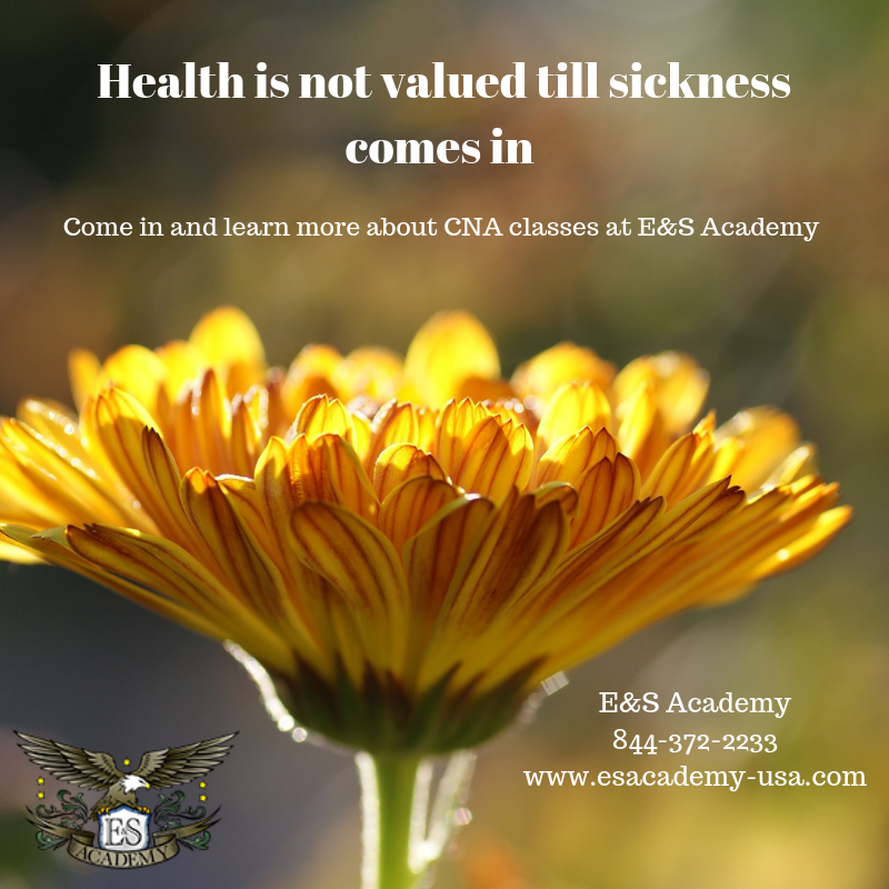 Health is not valued till sickness comes is