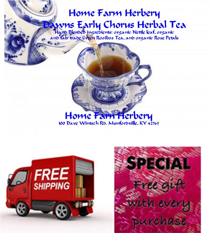 Dawns Early Chorus Herbal Tea, caffeine free, Order now, free gift, Free Shipping