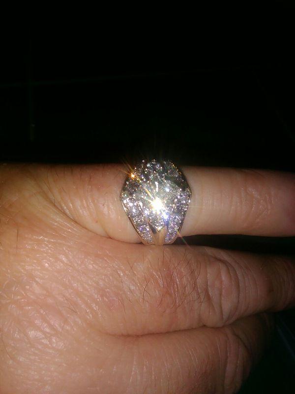 14 kt gold set in Platinum 1/and half carats