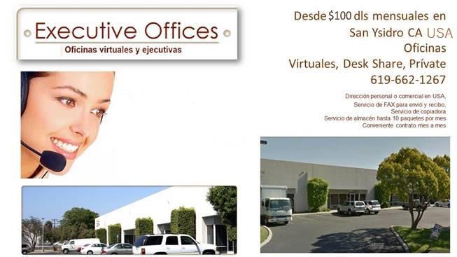 SE RENTAN OFICINAS DESDE $450 EN SAN YSIDRO CA