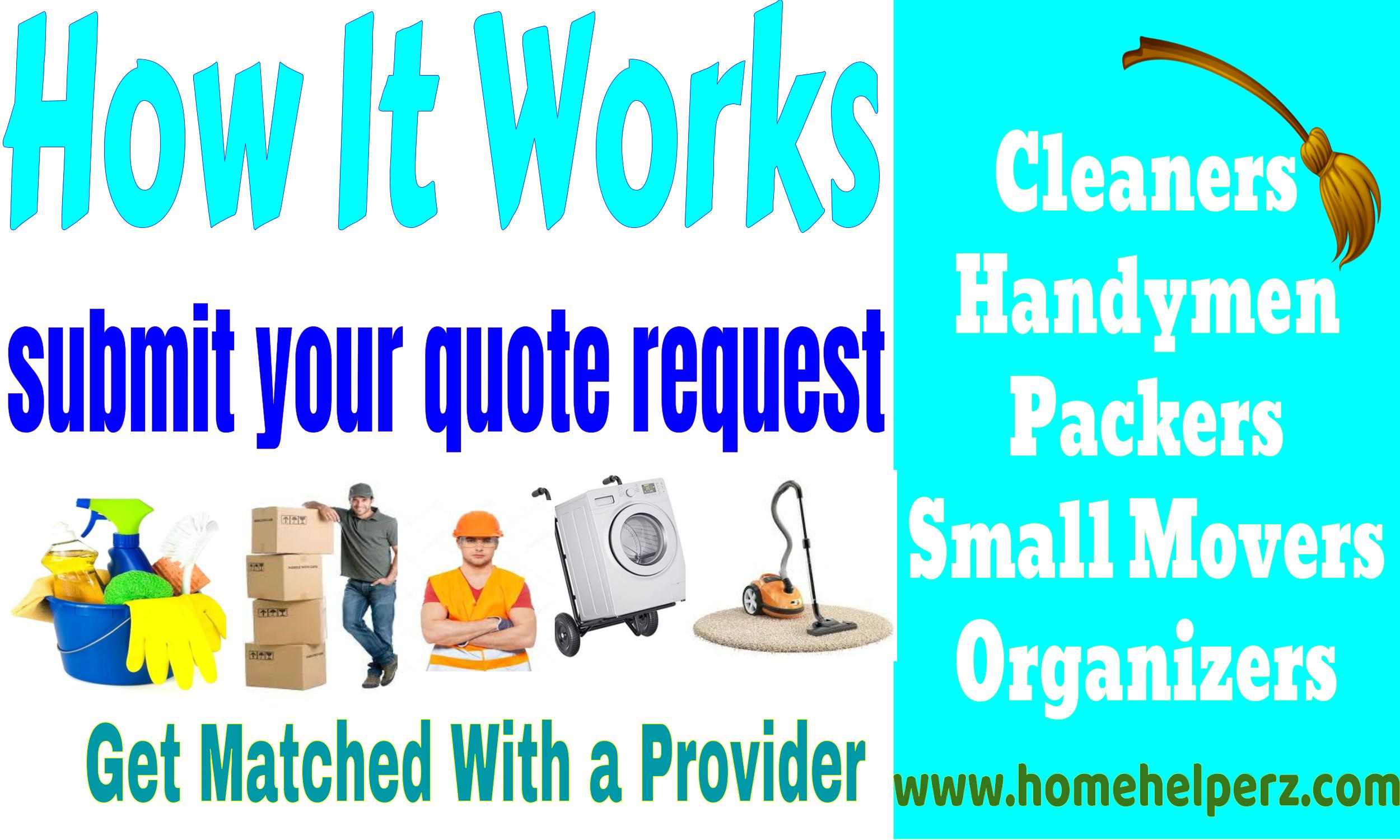 Tell Home Helperz how much you want to pay to have your home cleaned or organized.