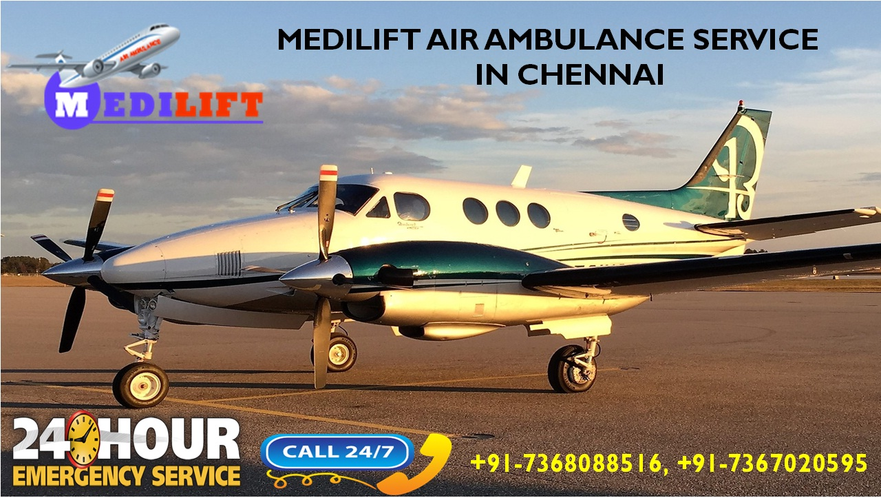 Get Prime and Reliable Medilift Air Ambulance Services in Chennai