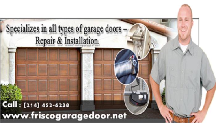 Broken Garage Door Spring Repair Frisco, TX - $25.95