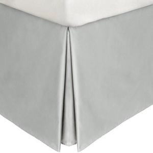 Shining silver grey bed skirt -AanyaLinen