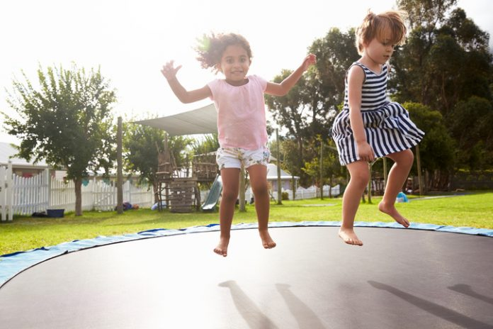 Buy Big 14'x16' Heavy Duty Trampoline on Sale @Happy Trampoline