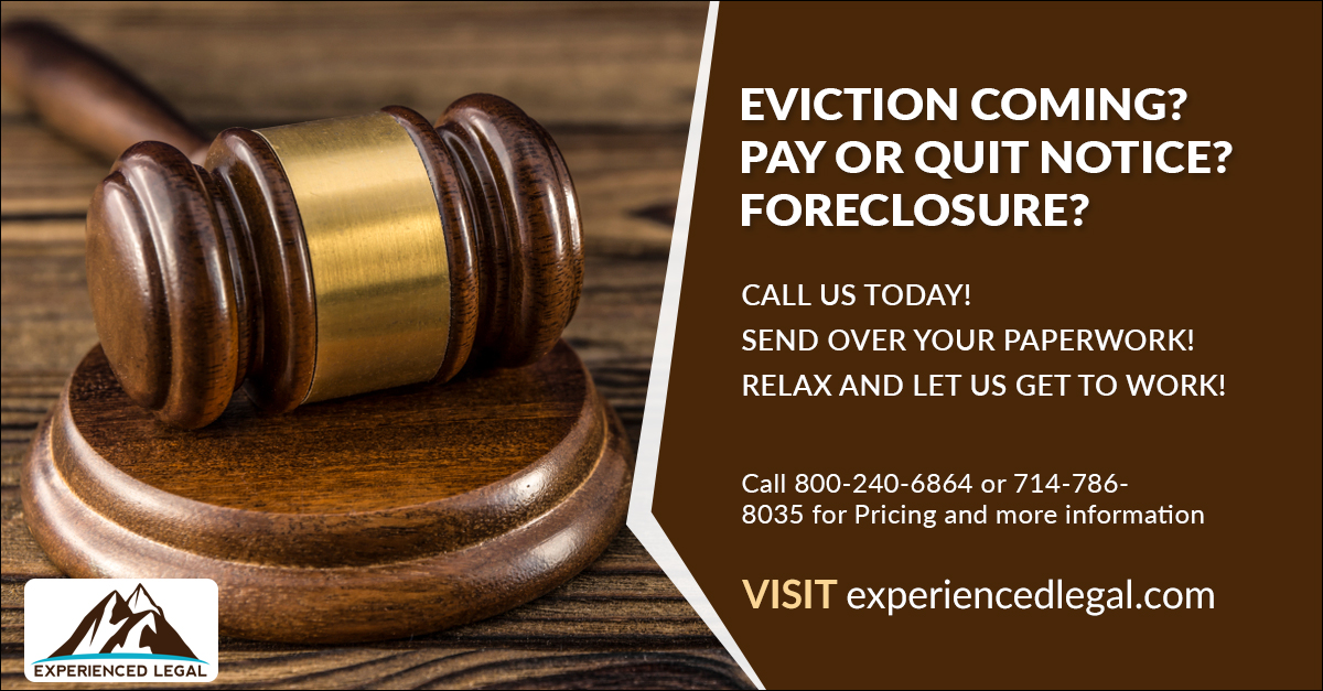 Stop Eviction!  Landlord or Bank eviction help!