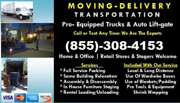24/7 MOVERS! AFFORDABLE RATES!! CALL 855 308 4153