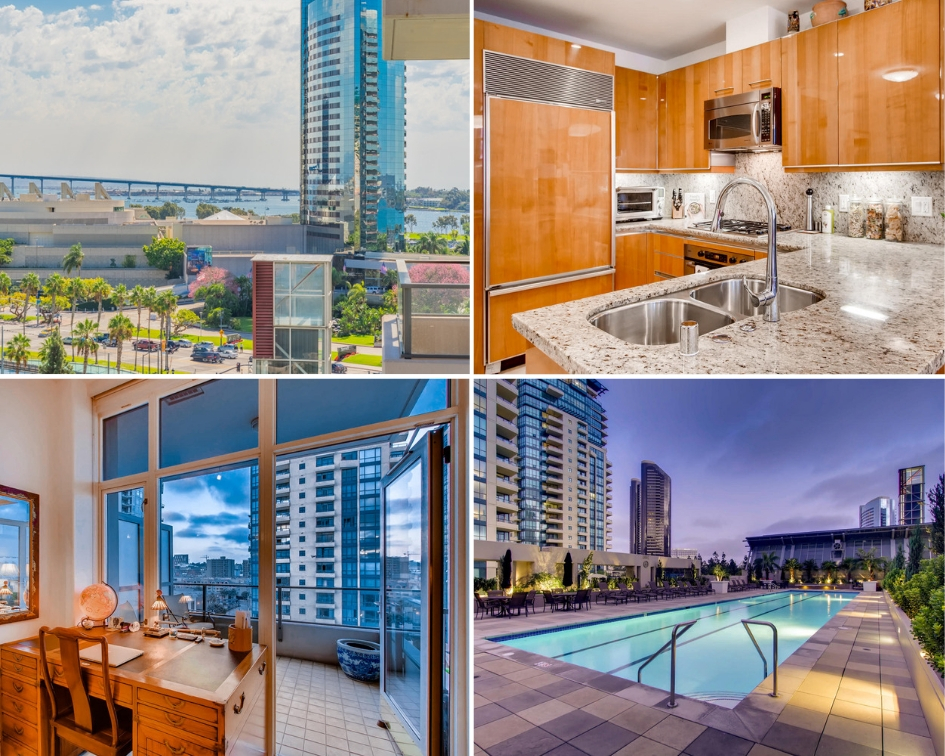 Entertain friends with bay and city views form your large patio. Close to shops & restaurants