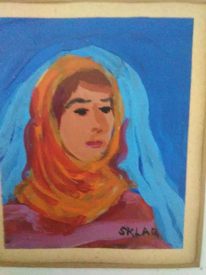 "Oil painting by Sklar 2 ½"" by 3 ½"""