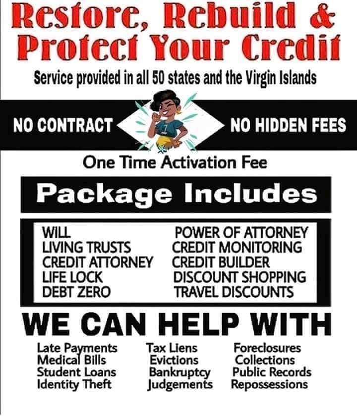Affordable Credit Repair w/Protection Plan Membership