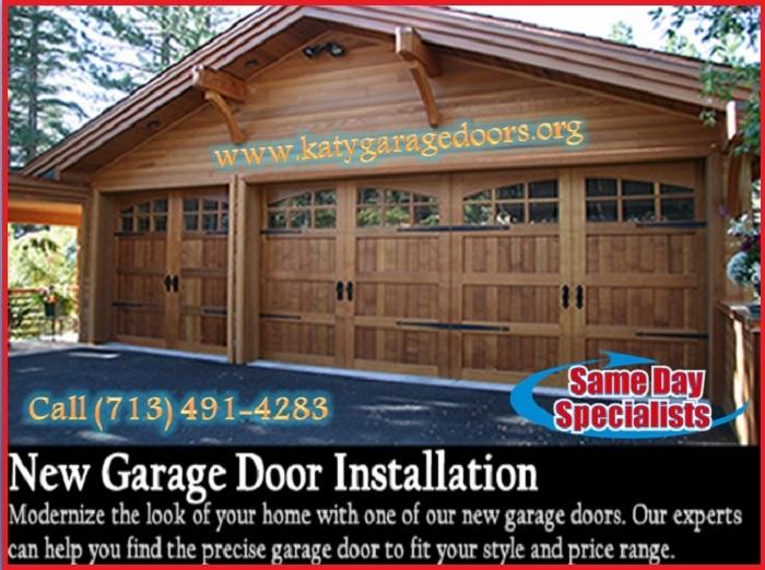 Same Day | New Garage Door Installation Service ($25.95) Katy Houston, 77450 TX