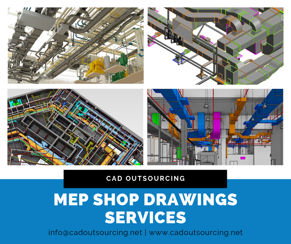 MEP shop drawings service - Kentucky - CAD Outsourcing