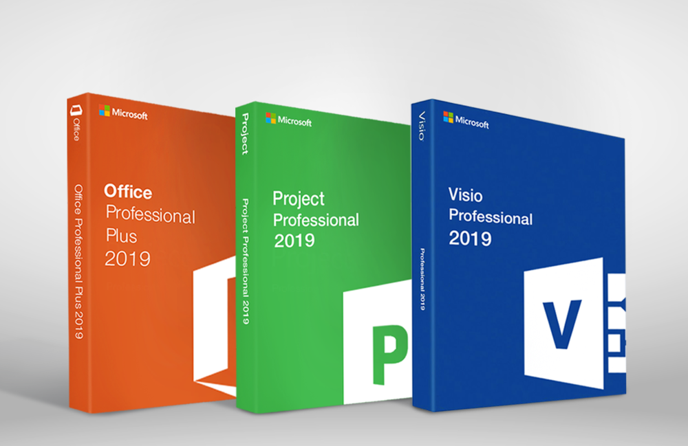 Microsoft Office 2019 Pro Visio 2019 Project 2019 - Full Suite - 3 PC's 3 User's - $ 50""