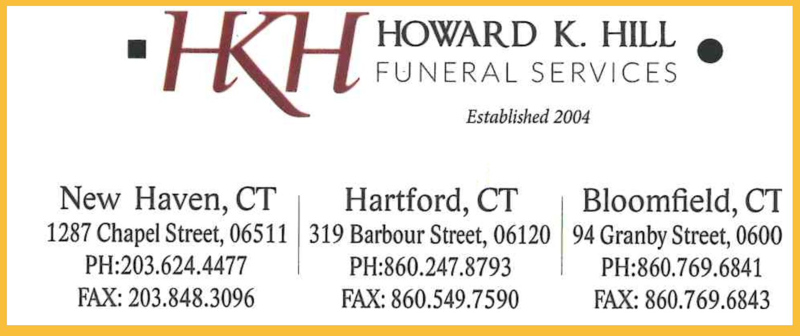 Howard K Hill Funeral Services