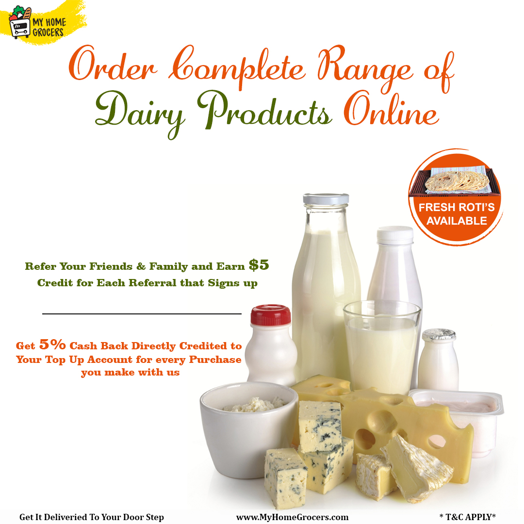 Order Complete Range Of Dairy Products Online Fort Worth,Texas - MyHomeGrocers