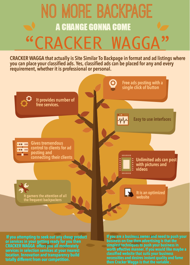 """NO MORE BACKPAGE !! A CHANGE GONNA COME """"CRACKER WAGGA"""""""