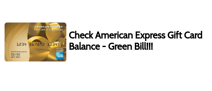 Check Your American Express Gift Card Balance - You Must See!!!