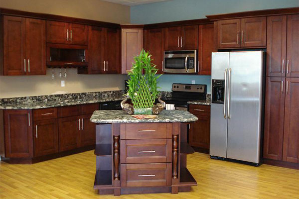 Functional and Stunning Walnut Cabinets from GEC Cabinet Depot