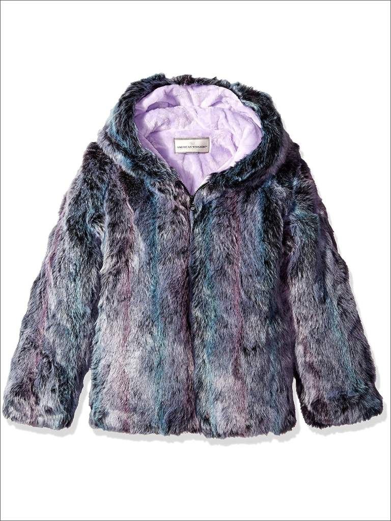 Girls Winter Coat With Fur Hood at Mia Belle Baby