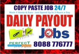 Copy paste job | Earn Daily Rs. 400/- Bangalore Online job | Daily Payment
