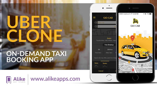 Online taxi booking app like uber