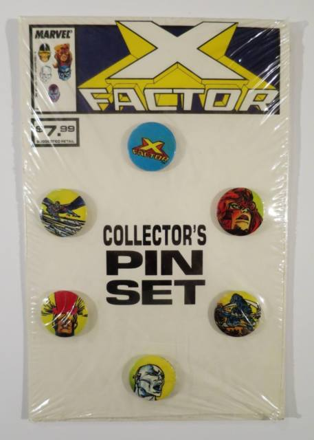 Rare MARVEL 1989 X FACTOR COLLECTOR'S SET OF 6 PINS