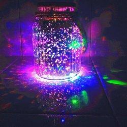Solar glass jar