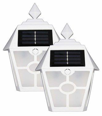 Solar fence lights