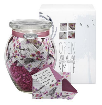 Birds and Flowers Jar of Notes