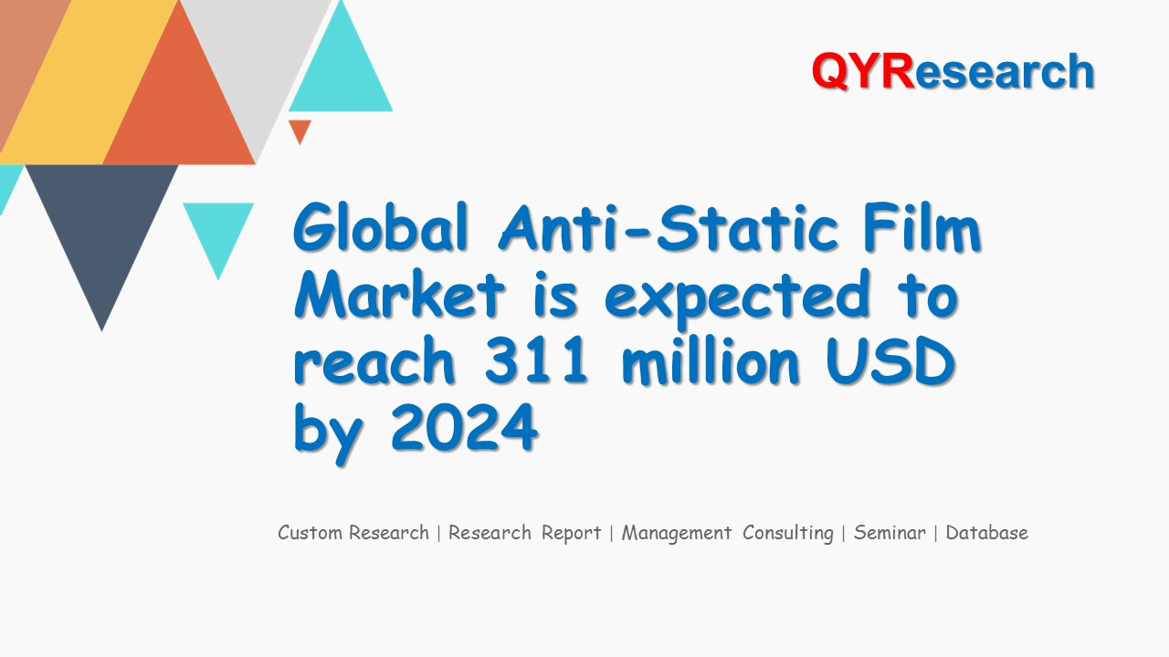 Global Anti-Static Film Market is expected to reach 311 million USD by 2024
