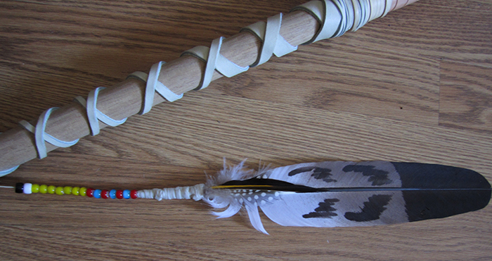 Replica Native American Buffalo Lance