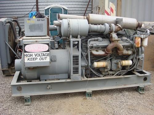 RUDOX GENERATOR SET 400KW 277/480 VOLTS, TWIN DETROIT, V12