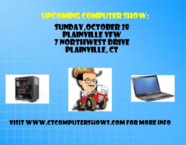 Computer & Electronics - Show and Sale - Plainville VFW, 7 Northwest Drive, Plainville CT