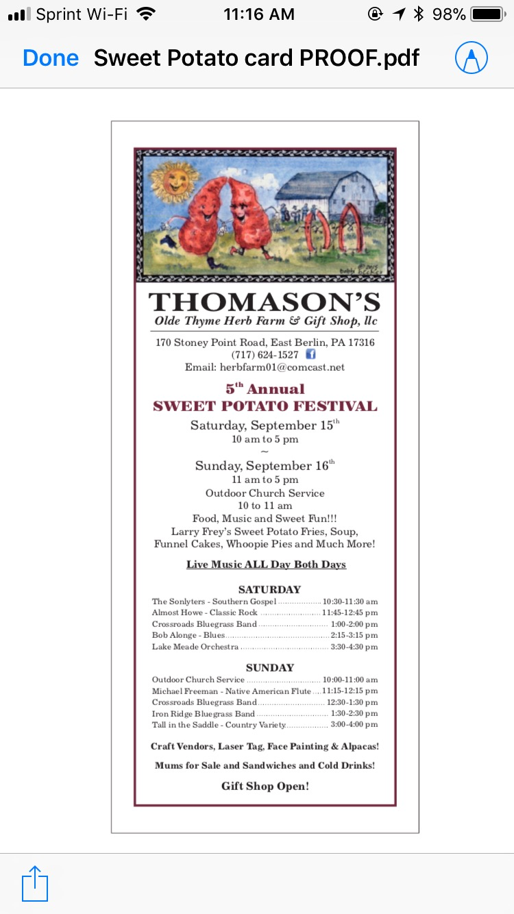 5th Annual Sweet Potato Festival