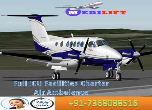 ICU Medical Support Air Ambulance Service in Kolkata