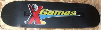 X-GAMES TEAM BLACK DEMO SKATEBOARD DECK