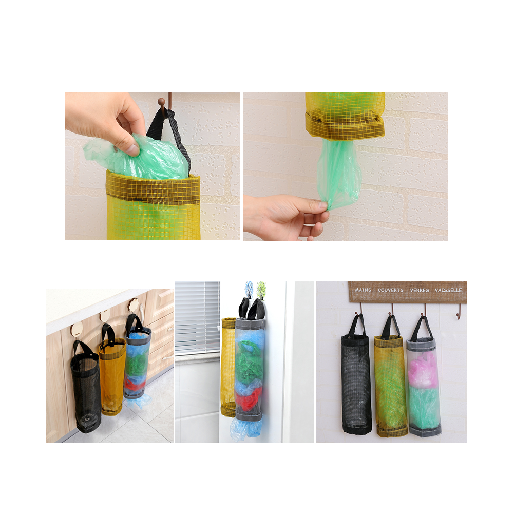 3 Pack Hanging Mesh Grocery Plastic Bag Holders[Coupon: PC88LKZ9](30% off)-$11.19