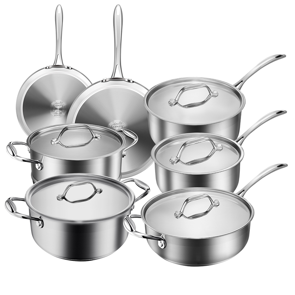 Christmas Gifts 12-piece stainless steel cookware set! Early Christmas gift! 15% off!