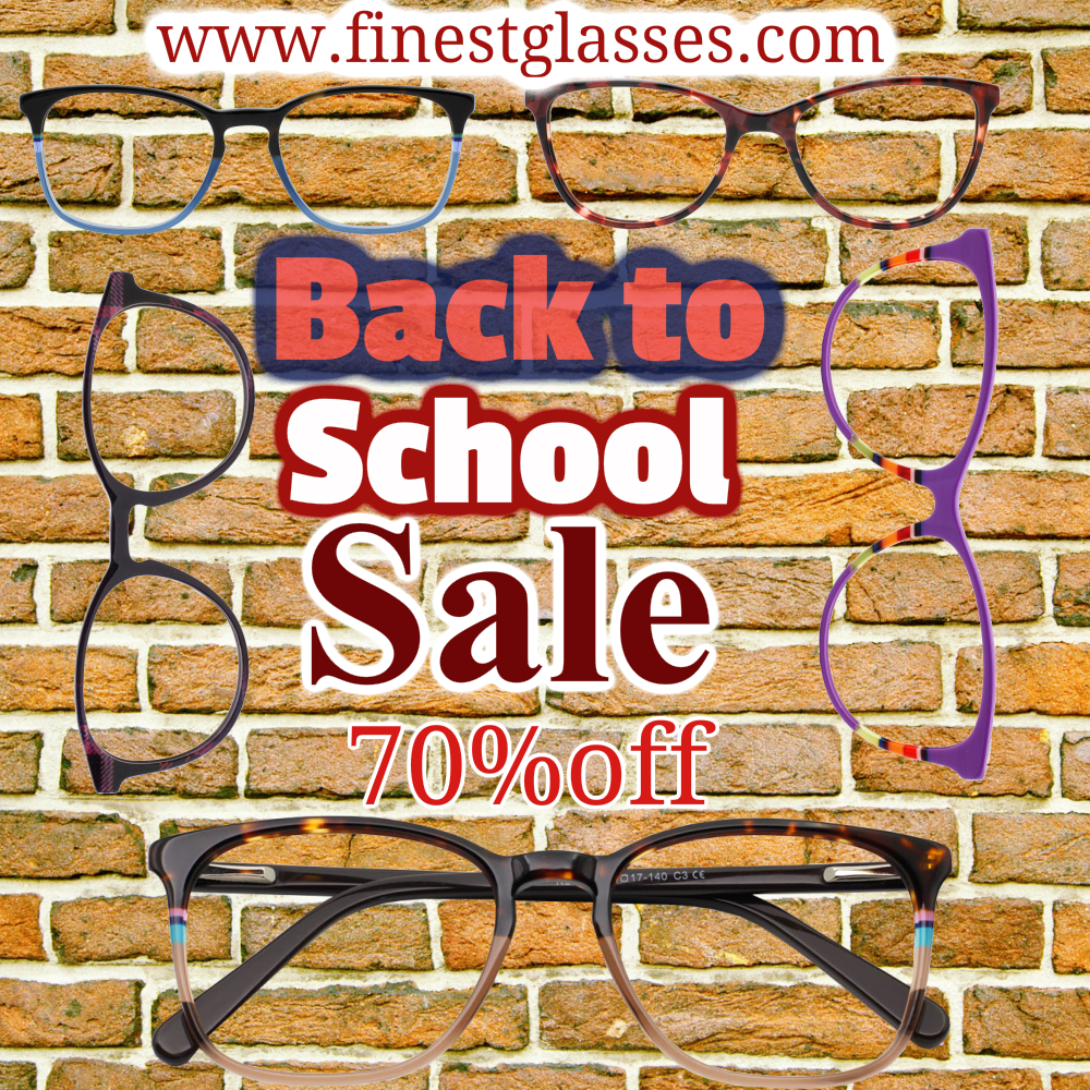 Back to school sale eyeglasses, prescription glasses