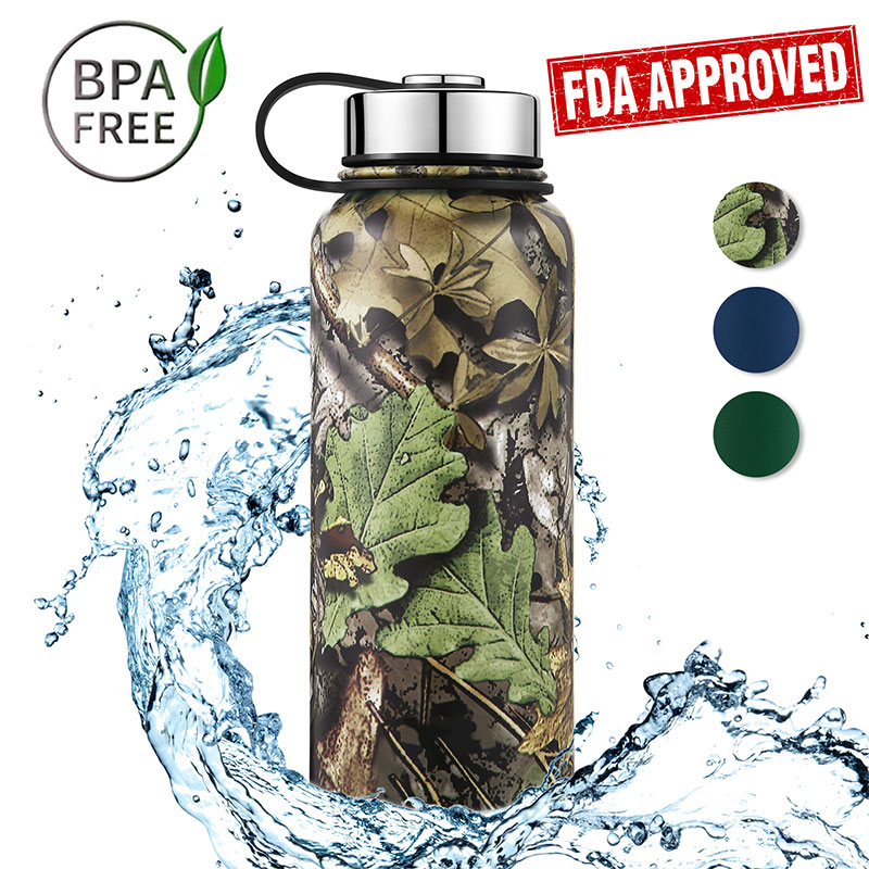 32 OZ Double Wall Stainless Steel Insulated Wide Mouth Water Bottle, JUST $16.99 NOW