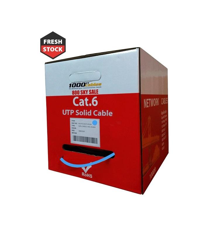 Cat6 Plenum 1000FT Solid UTP Ethernet cable