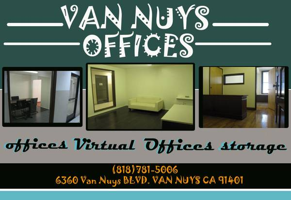 Van Nuys Office Space $200 a mo. & Up